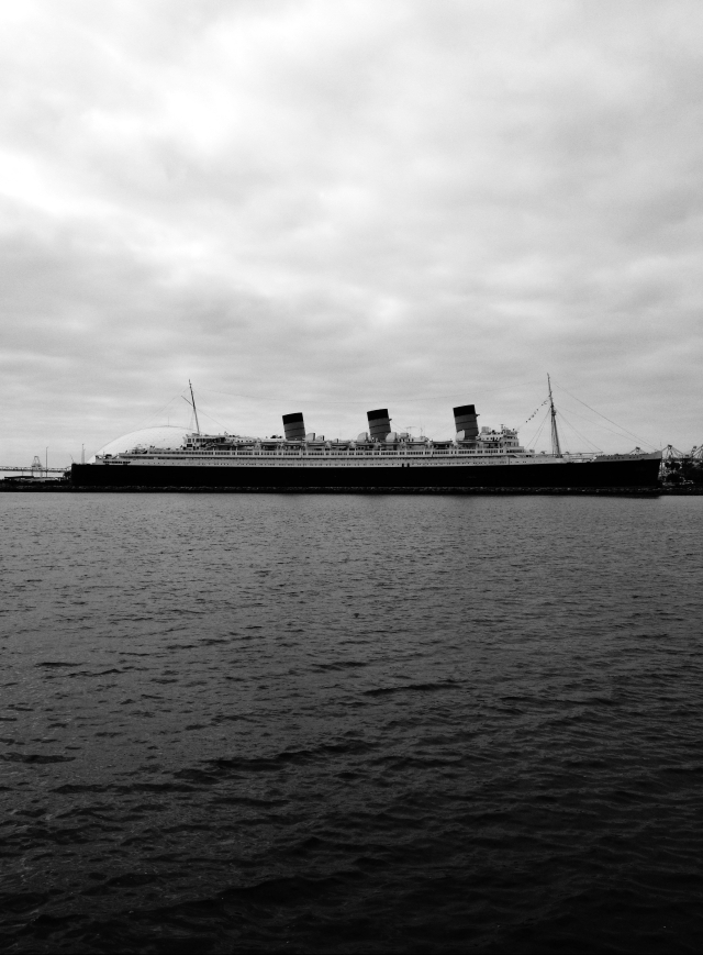 Queen Mary - Long Beach, CA (Black and White)
